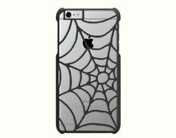 iphone 6 plus case - spider web 3d print model