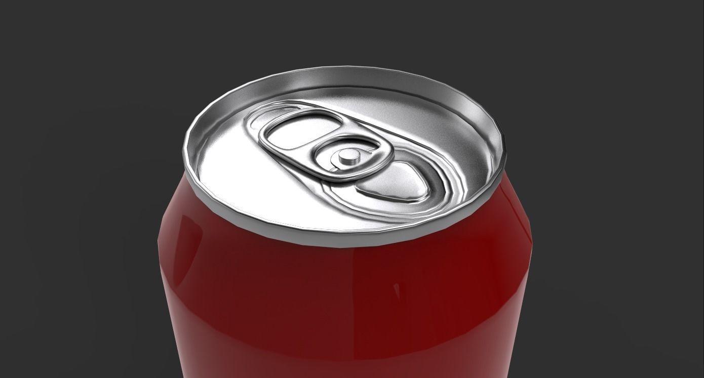 Beverage can 3D model  330ml