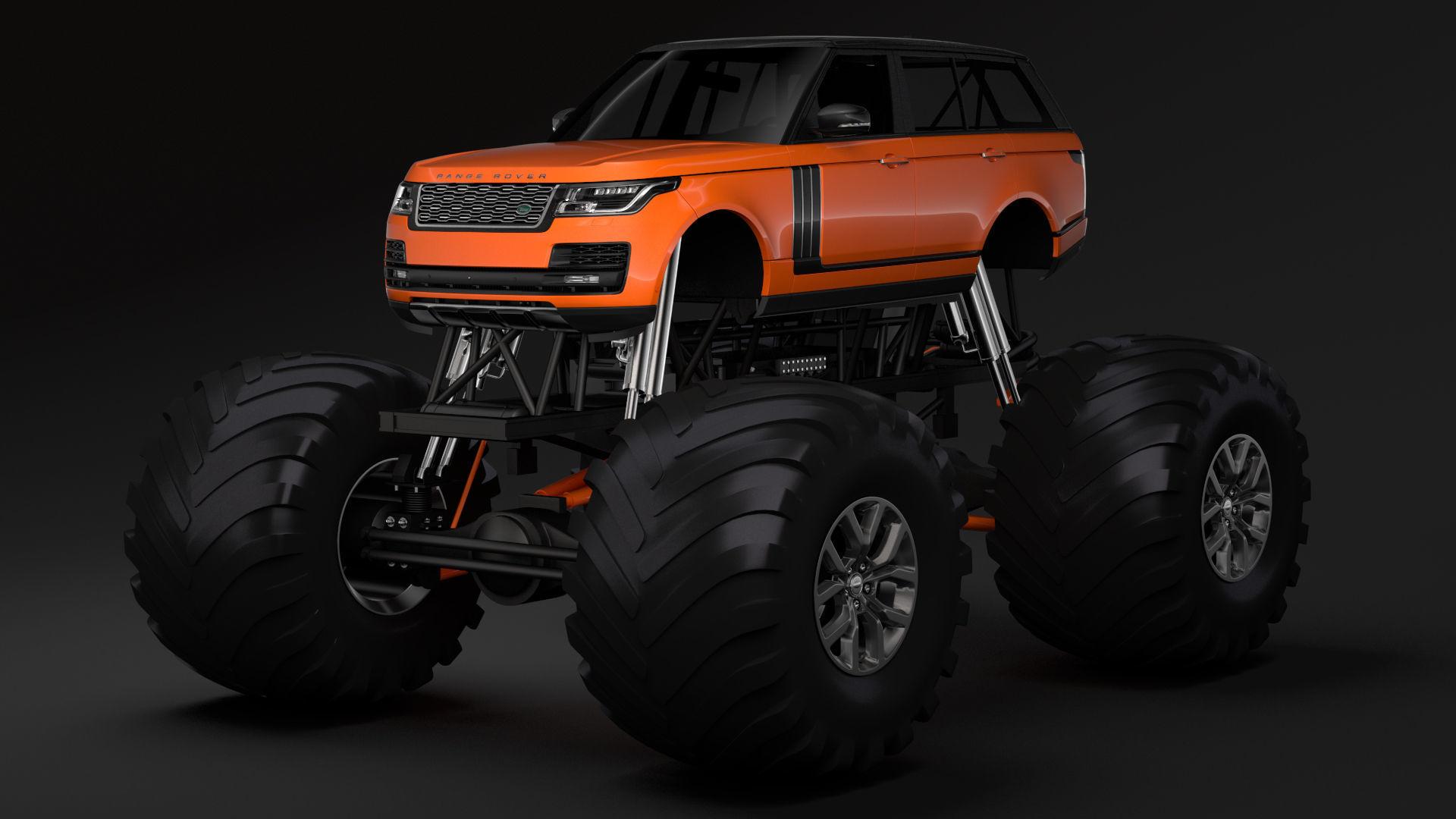 Range Rover Truck >> Monster Truck Range Rover Svautobiography Dynamic 3d Model