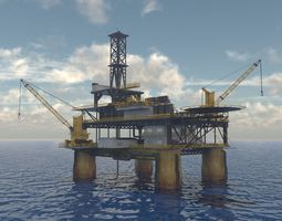 3D Oil rig textured