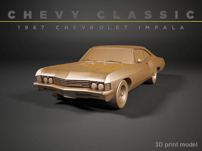 chevy impala 1967    3d model max obj mtl fbx stl 1