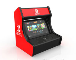 Nintendo switch arcade stand 3D print model