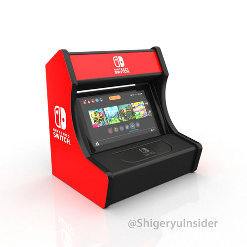 Nintendo Switch Arcade Stand 3d Print Model Game Cgtrader