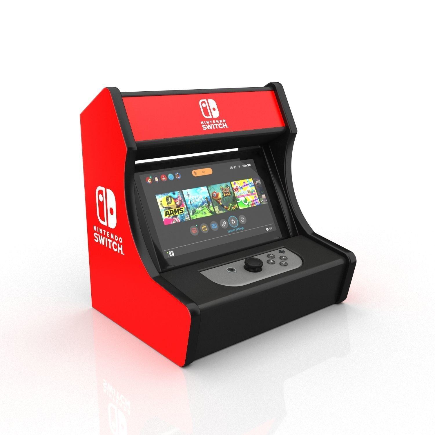 nintendo switch arcade stand 3d print model cgtrader