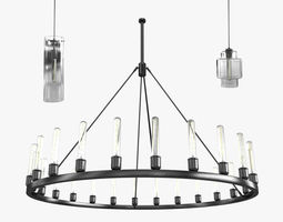 3D Axia Crystalline spark by niche and beacon pendant