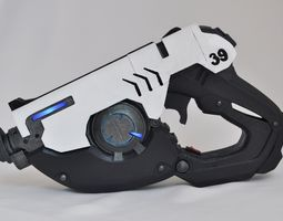 overwatch tracer pulse pistol with leds 3d printable model