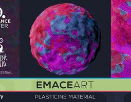 3D model PBR Plasticine Material 4 Substance Unity 1