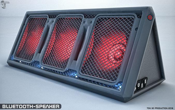 2 bluetooth speaker 3d model max obj mtl 3ds fbx dxf stl 1