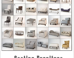 Baker Seating Collection 3D