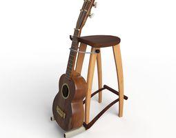 Decormonk Guitar Stool wood 3D