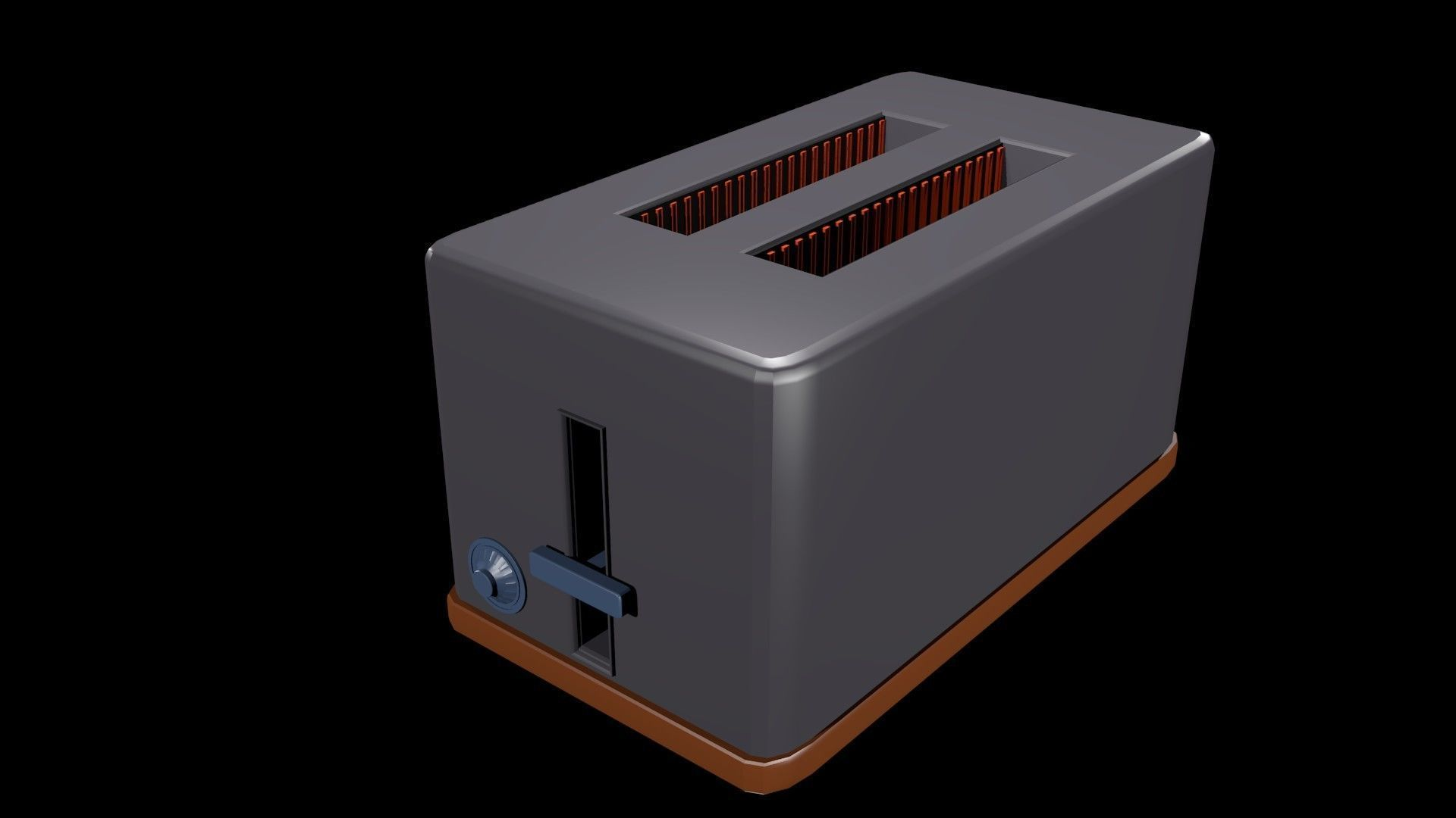 Low poly toaster