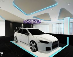 Showroom VR AR Game Ready 3D model