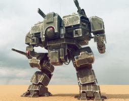 Heavy assault walker Mech 3D model
