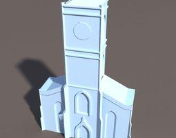 3d model church low 81