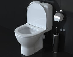 toilet 3D animated