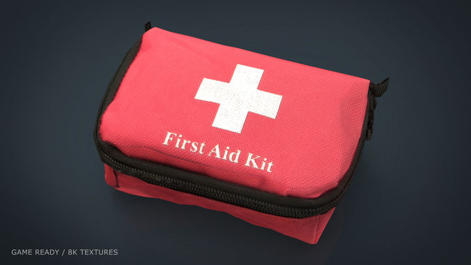 first aid kit 3d model max obj mtl fbx ma mb 1