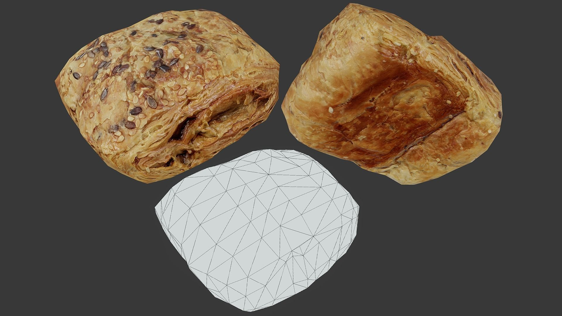 Pastry 01 - Low Poly - Photogrammetry
