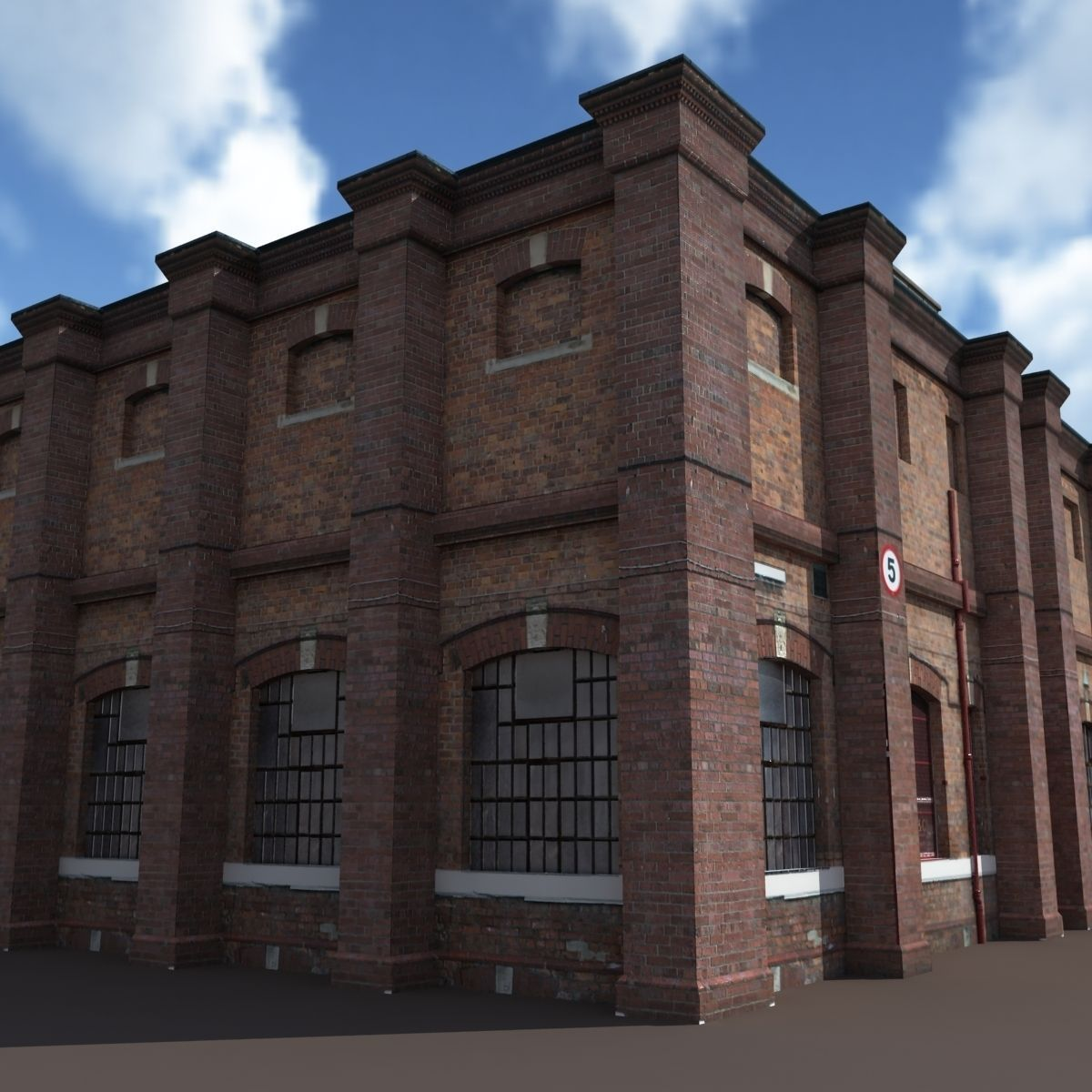 Old Factory Low Poly 127 3D Model MAX OBJ 3DS LWO LW LWS