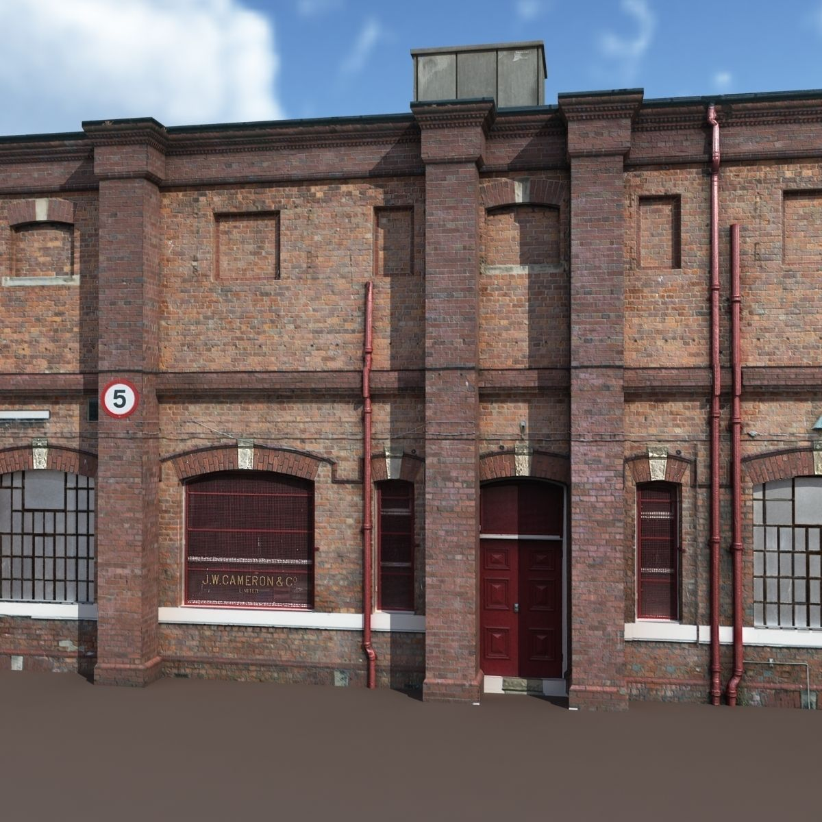 Old Factory Low Poly 127 3D Model .max .obj .3ds .lwo .lw
