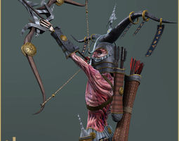 Dead Archer 3D asset