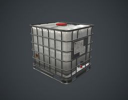 3D asset Water Plastic Tank PBR Game Ready