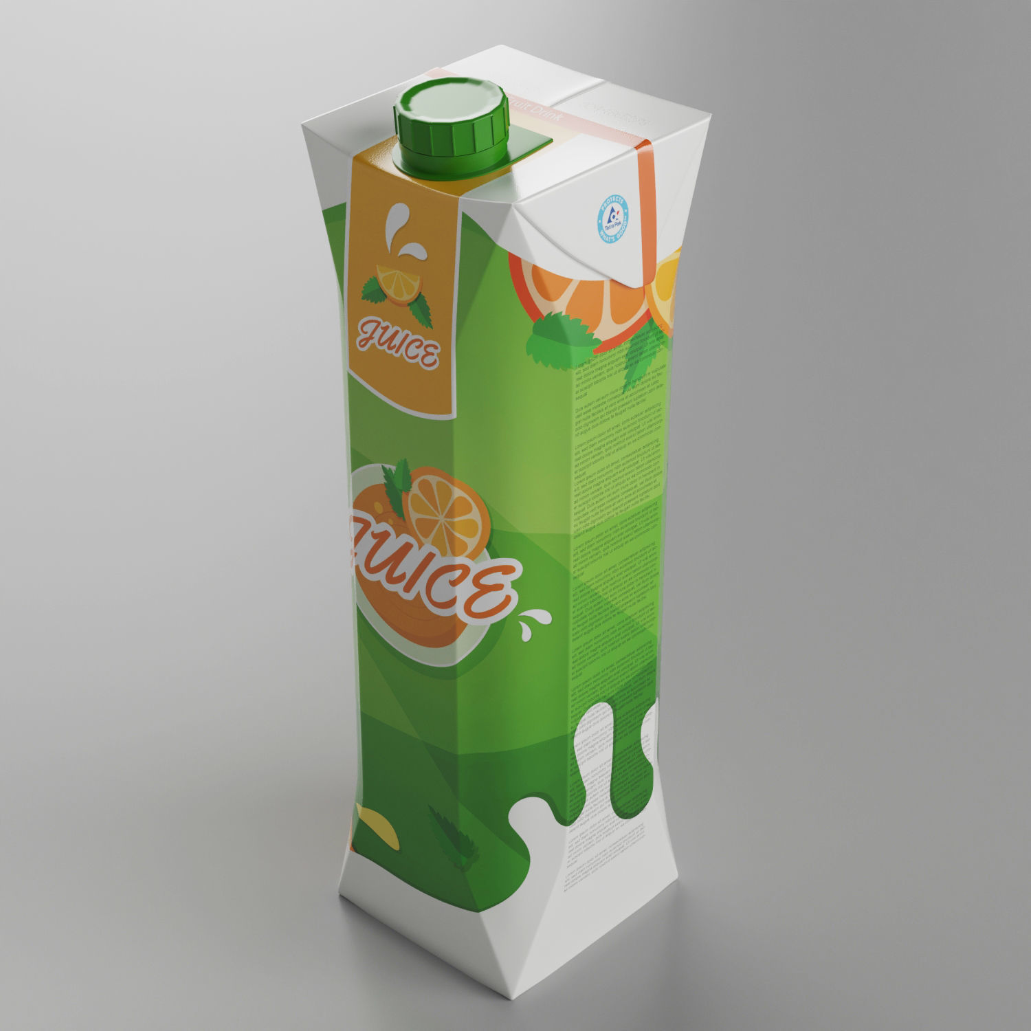 Tetra Juice Carton Box