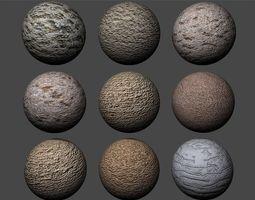 Stucco Textures Pack 6 3D
