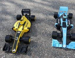 Formula 1 car printed