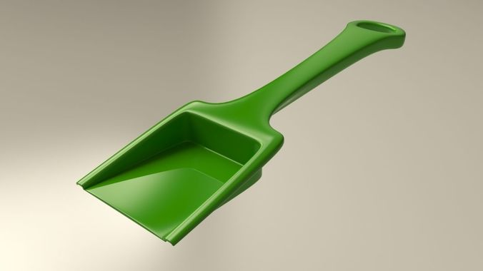 green plastic sand shovel toy for kids 3d model max obj mtl fbx 1