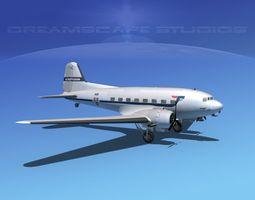 Douglas DC-3 SAS 3D Model
