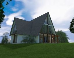 3D vacation house