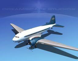 Douglas DC-3 Shaunee Airways 3D Model