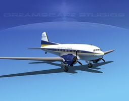 Douglas DC-3 Southern Airlines 3D Model