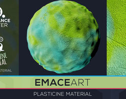 PBR Plasticine Material 9 Substance Unity Material 3D