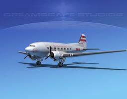 Douglas DC-3 TWA 3D Model
