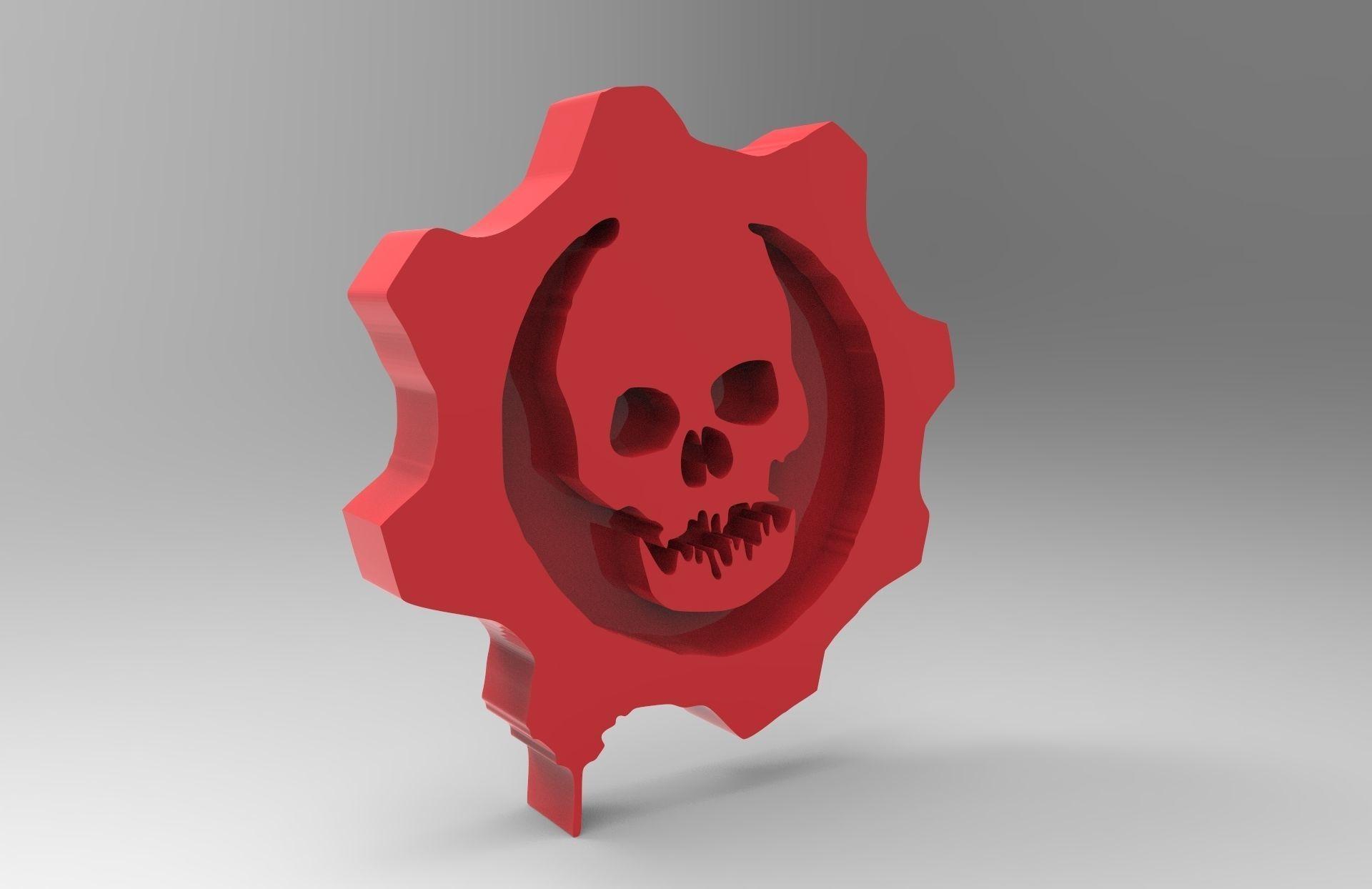3d Printable Model Gears Of War Symbol Cgtrader