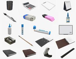Office desk accessories 3D