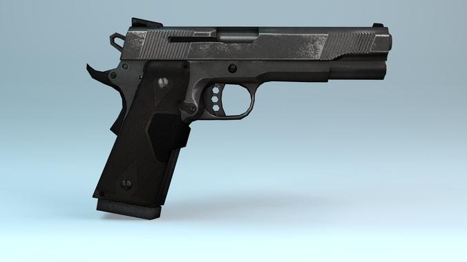 Handgun for gamedev3D model
