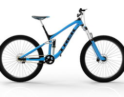 3D asset animated Mountain bike