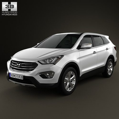 3d hyundai santa fe 2012 cgtrader. Black Bedroom Furniture Sets. Home Design Ideas