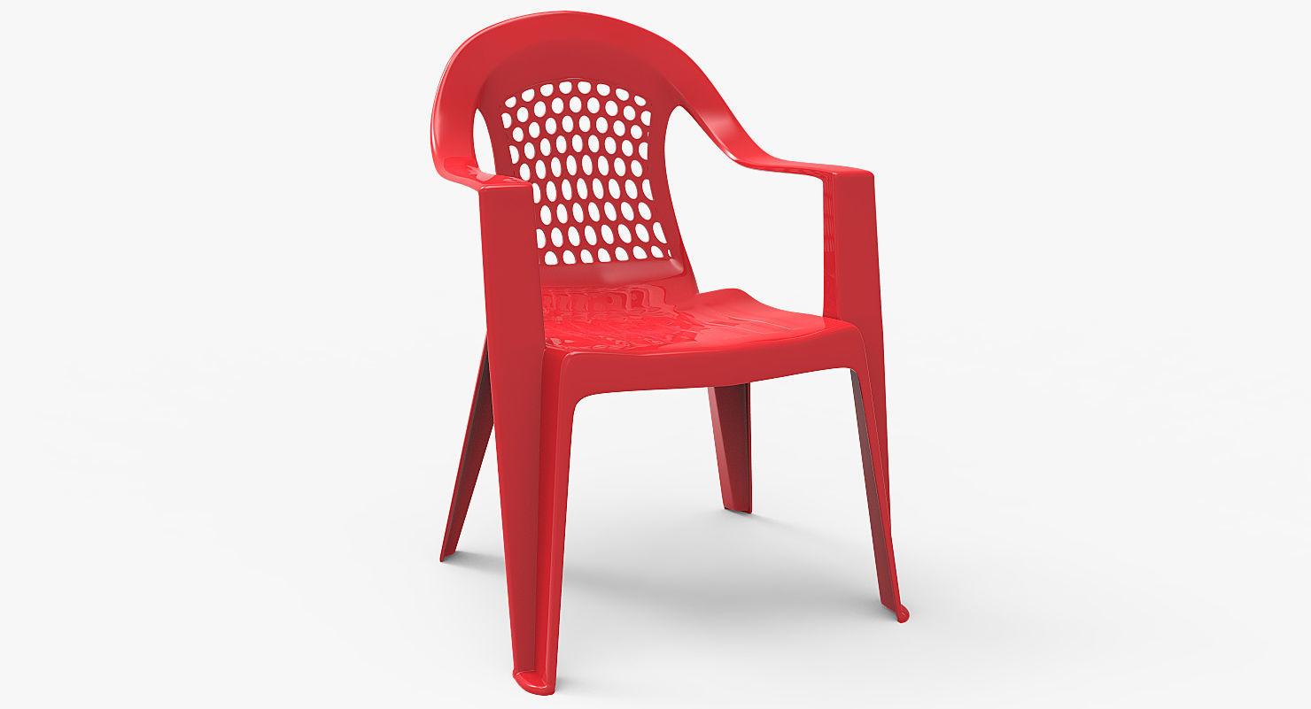 Plastic Outdoor Chair 3d Asset Cgtrader