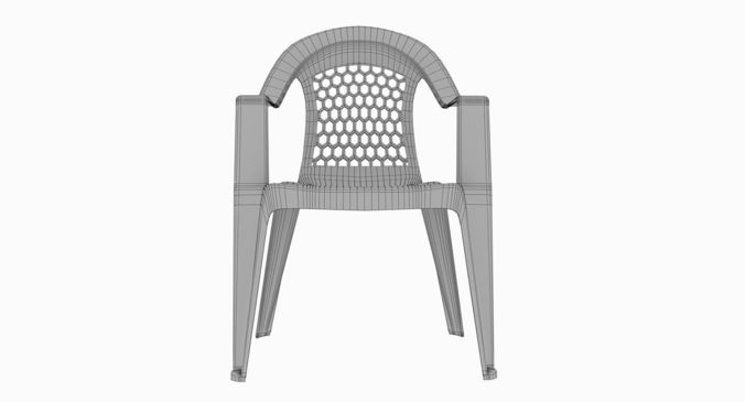 ... Plastic Outdoor Chair 3d Model Max Obj Mtl Fbx 6 ...