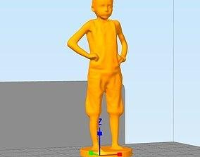 boy standing 3D printable model