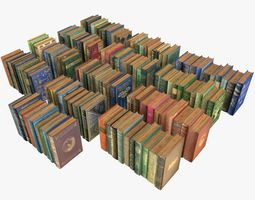 3D asset Old Books Collection 4