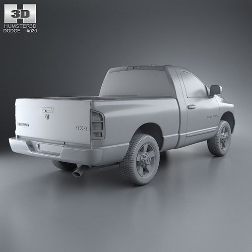 Dodge Ram 1500 Regular Cab Laramie 120-inch Box 2008 3D