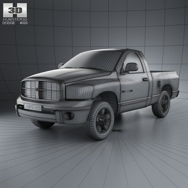Dodge Ram 1500 Regular Cab Laramie 120-inc... 3D Model MAX