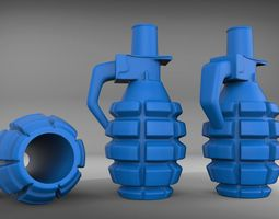 weapon Grenade hookah mouthpiece 3D print model