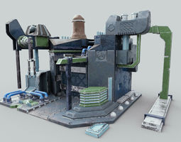 Factory Game model 3D asset