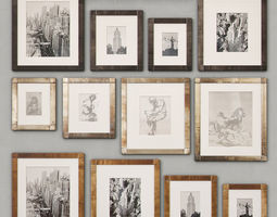 3D RH Antiqued Nailhead Gallery Frames