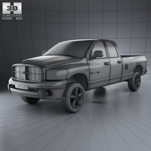 Dodge Ram 1500 Quad Cab Laramie 160-inch B... 3D Model